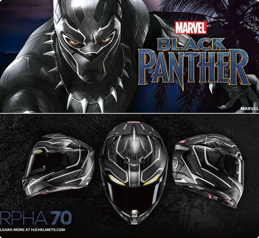 casque hjc marvel black panther