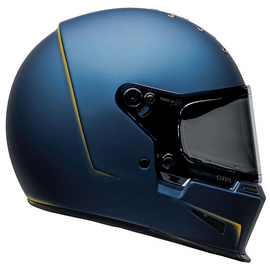 casque vintage bell eliminator vanish blue yellow - bleu jaune