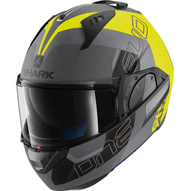 casque shark evo one 2 slasher jaune anthracite