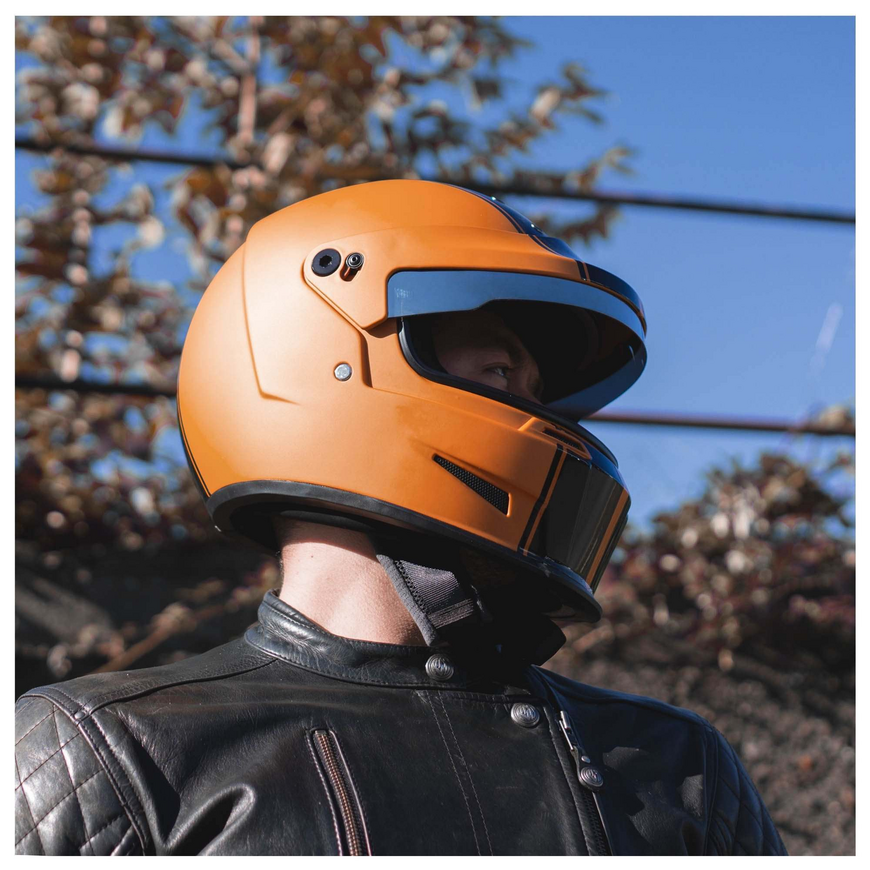 casque motard bell eliminator rally orange noir