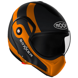 Casque modulable Roof Boxxer 9 Fuzo - Noir Mat / Orange