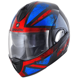 Casque Shark Evoline Series 3 Tixer Noir Rouge Bleu