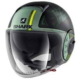 Casque Shark Nano Tribute Noir Mat Vert