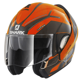 Casque modulable Shark Evoline Series 3 Hataum High Viz – Orange / Noir