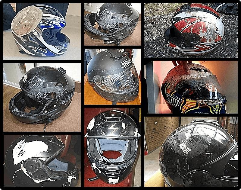 changer votre casque de moto après un choc ou un accident