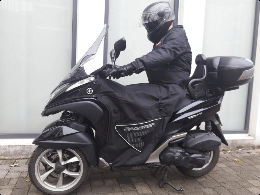 tablier moto couvre jambes pour se protéger du froid