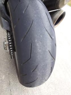 etat pneu moto usé